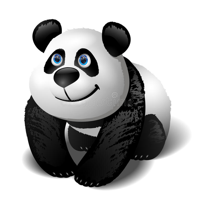 Panda baby royalty free illustration