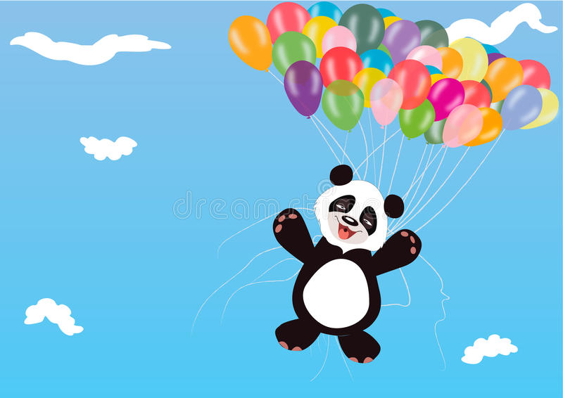 Panda Balloon stock foto's