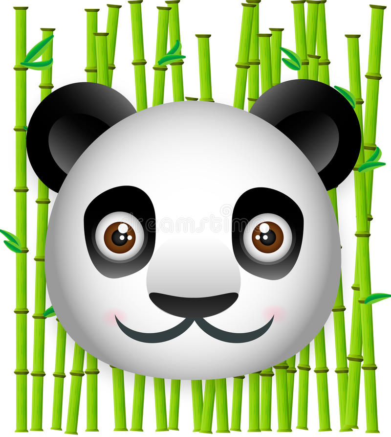 Download Panda With Bamboo Background Stock Illustration - Illustration: 22269176