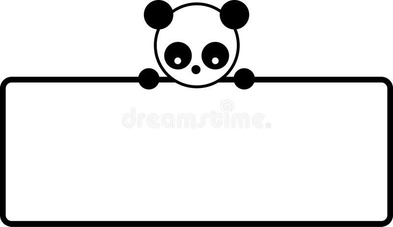 Panda Bear stock illustration