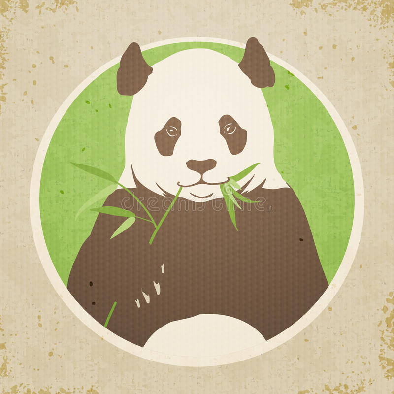 Panda Bear stock illustrationer