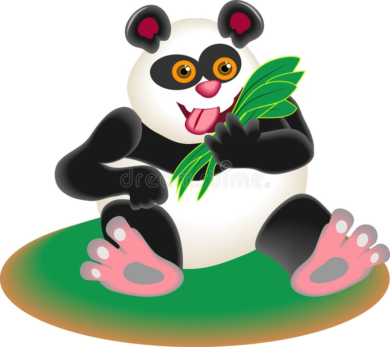 Download Panda Bear stock vector. Image of mammals, bear, meals, nature - 44599