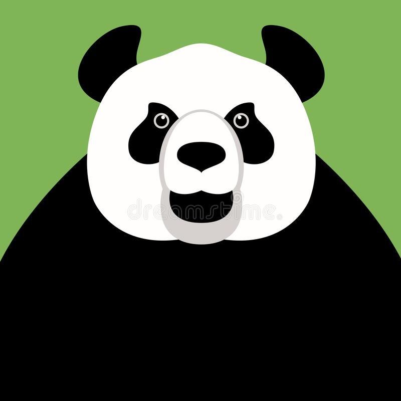 Panda bear face , vector illustration ,flat style vector illustration