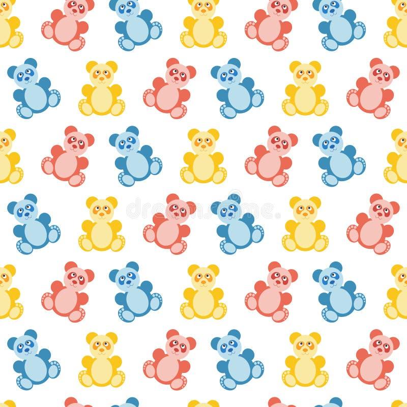 Panda bear pattern. vector illustration