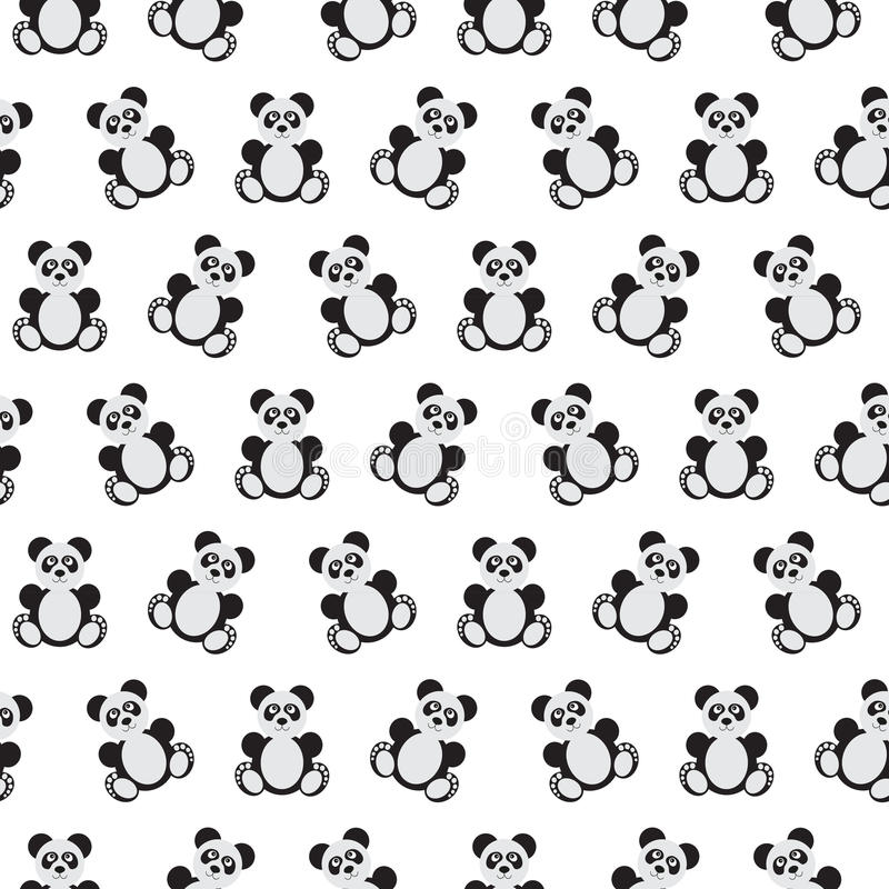 Panda bear pattern. stock illustration