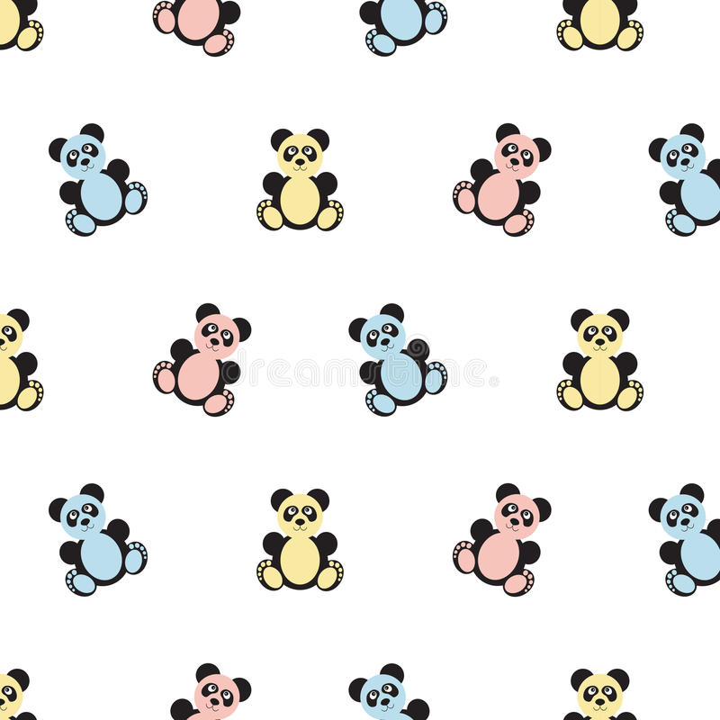 Panda bear pattern. royalty free illustration
