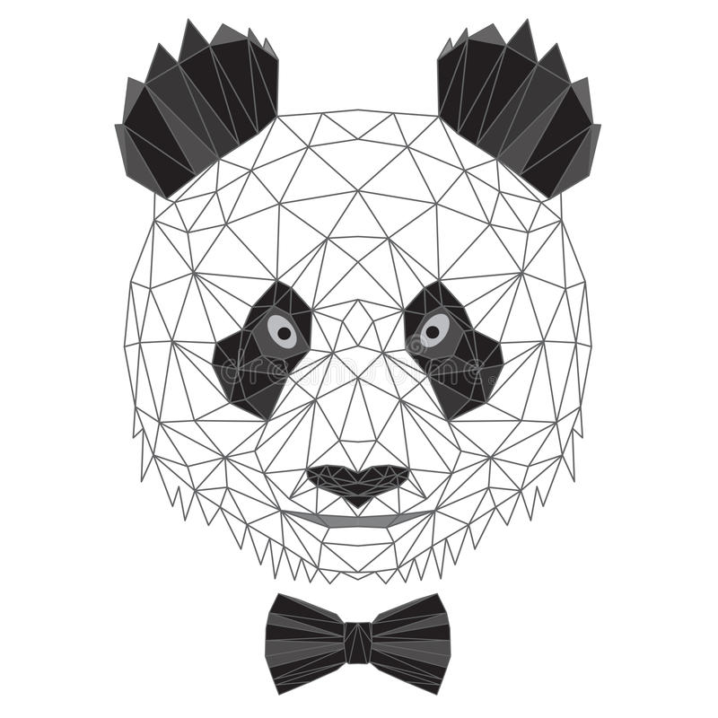 Download Panda Bear Portrait Stock Vector Illustration Of Linear