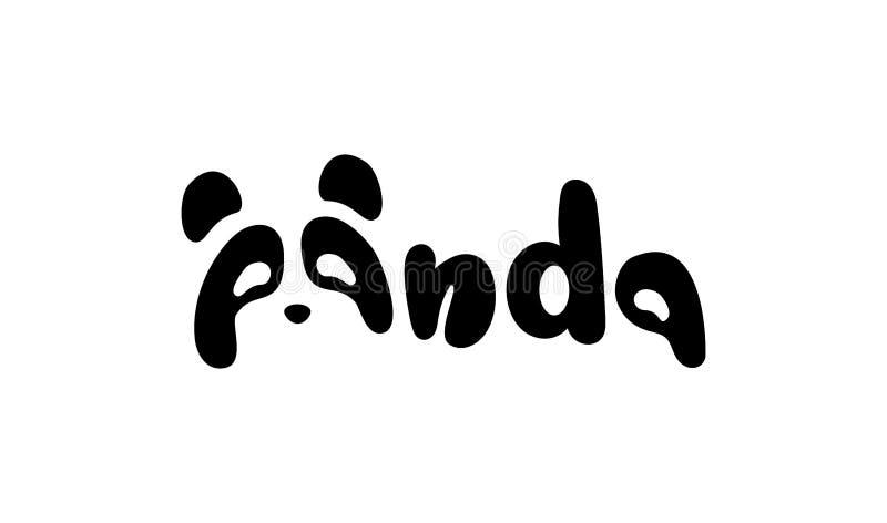 Panda bear silhouette Logo design vector template. royalty free illustration