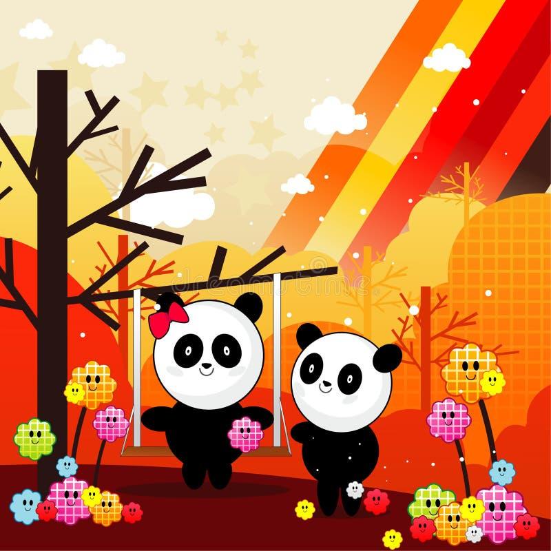 Download Panda bears illustration stock vector. Image of happiness - 18680315