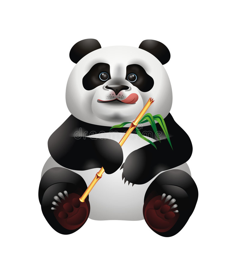 Panda bonito ilustração royalty free