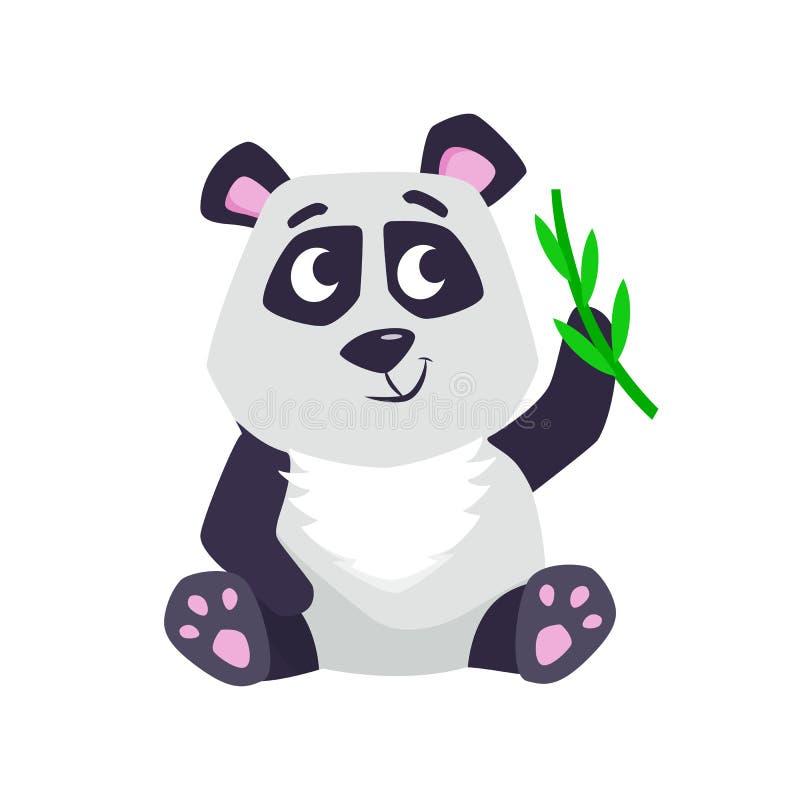 panda bonito dos desenhos animados ilustração stock