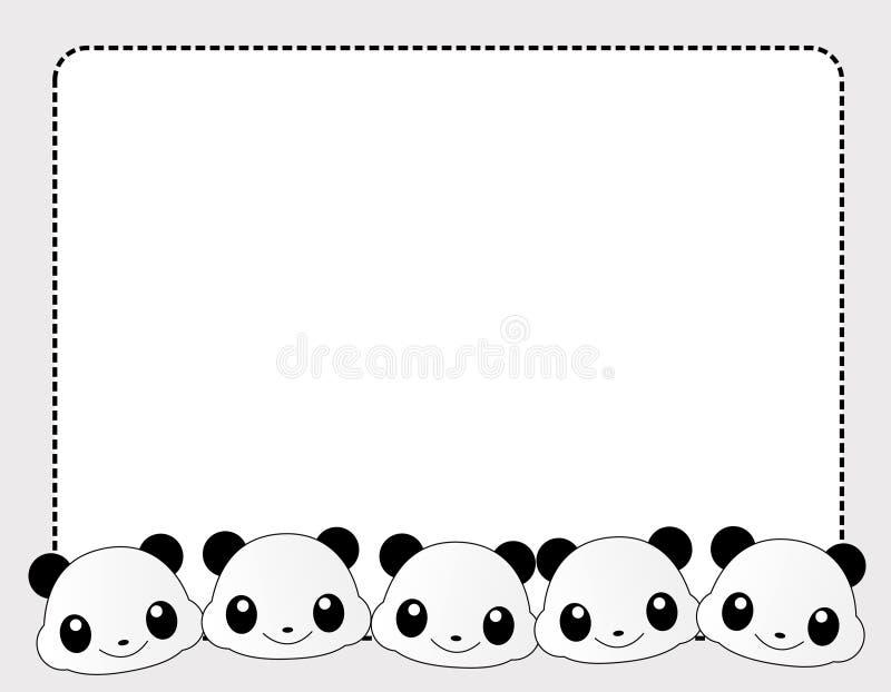 Panda border vector illustration