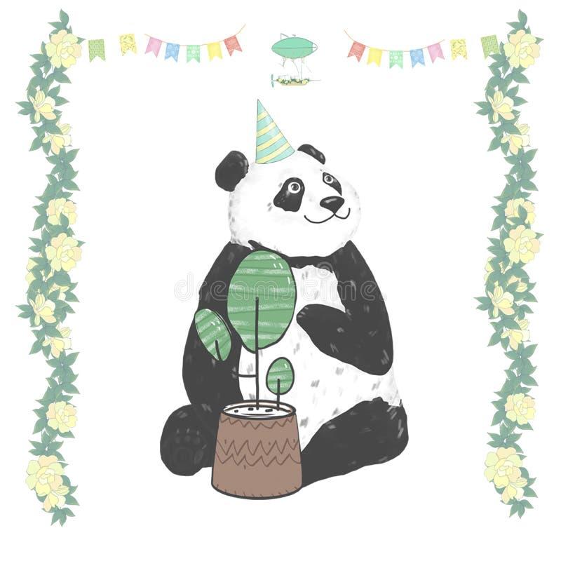 Panda Clip Art Drawing Animal Illustration Cute Animal Greeting ...