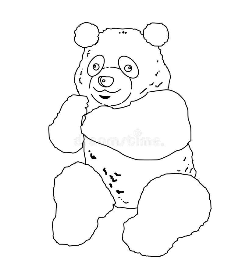 Panda coloring page stock illustration