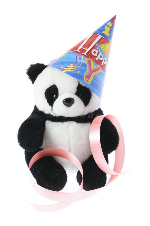 Panda com chapéu do partido fotografia de stock royalty free