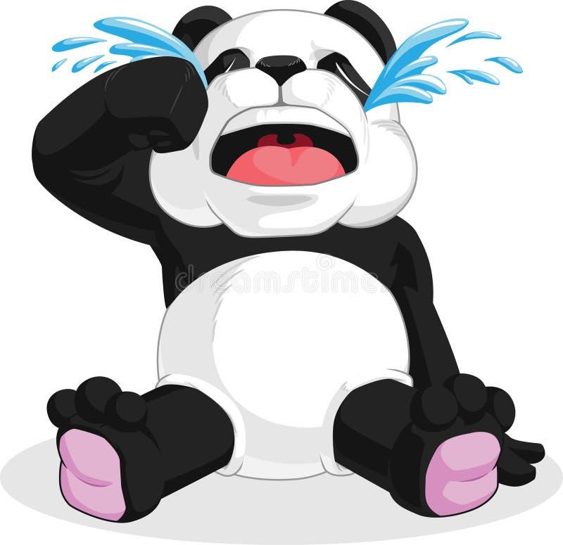 Panda Crying illustrazione di stock