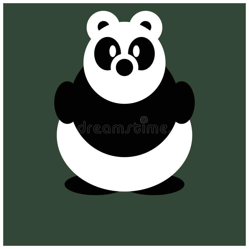 Panda Cute Animal Cartoon Character für Kinder lizenzfreie stockbilder