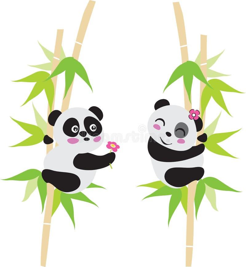panda d'amour illustration libre de droits