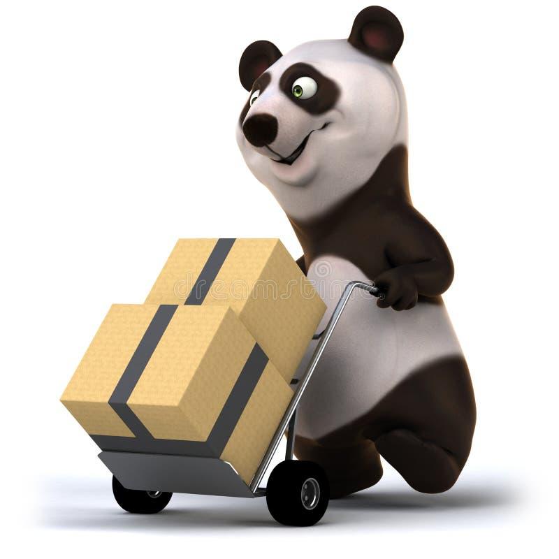 Panda d'amusement illustration de vecteur