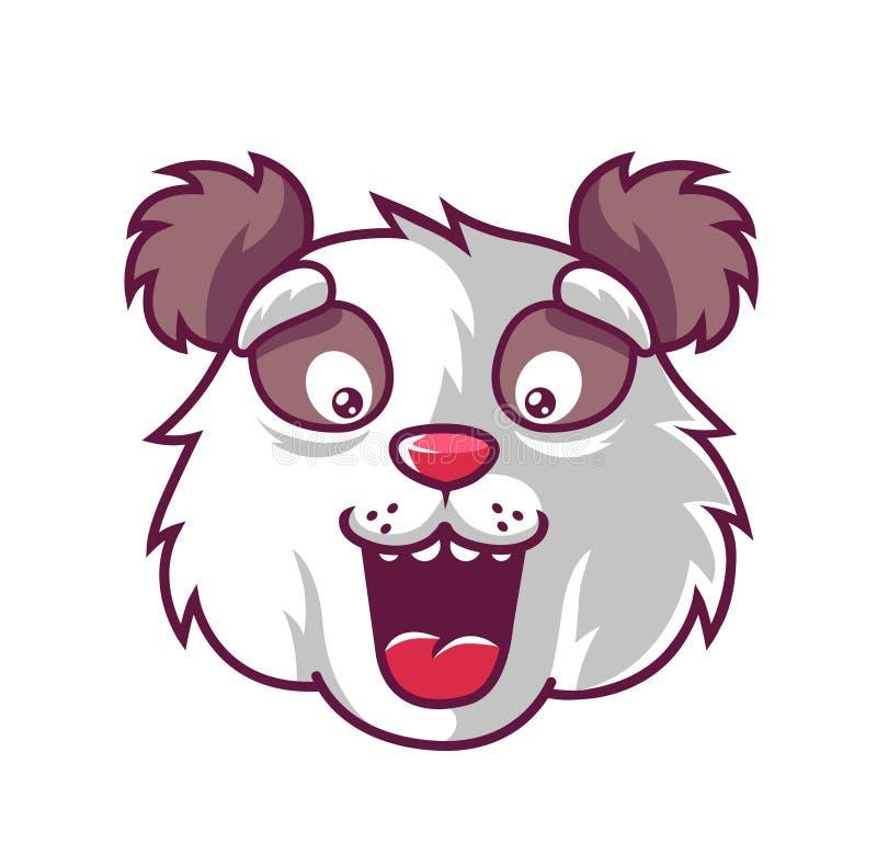 Panda d'amusement de museau qui est agr?ablement ?tonn? illustration stock