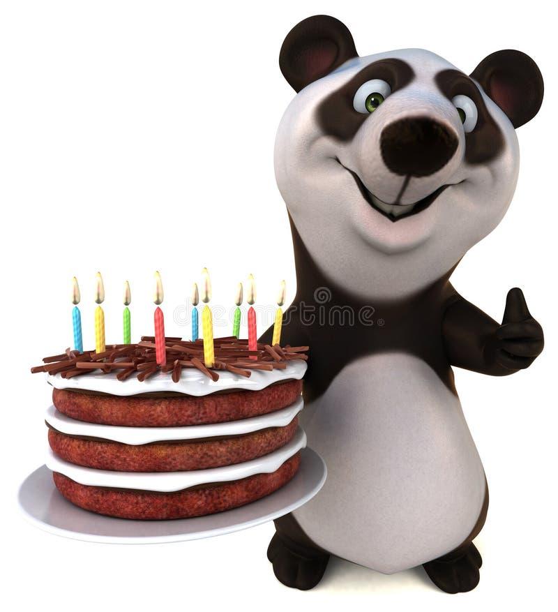 Panda d'amusement - illustration 3d illustration libre de droits