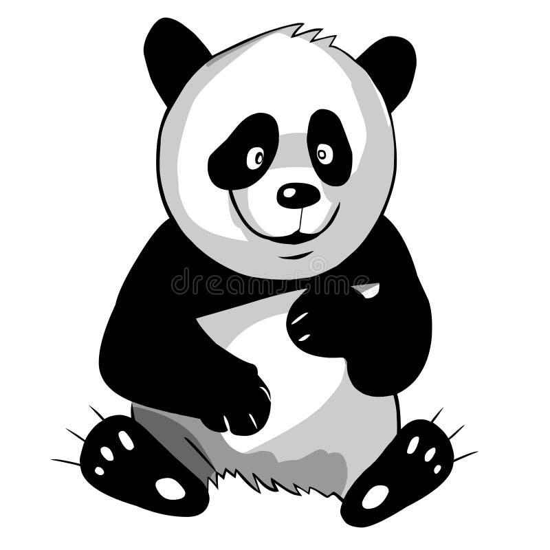 Panda d'ours illustration de vecteur