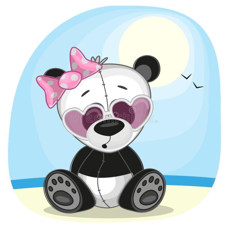 Panda dans des lunettes de soleil illustration stock