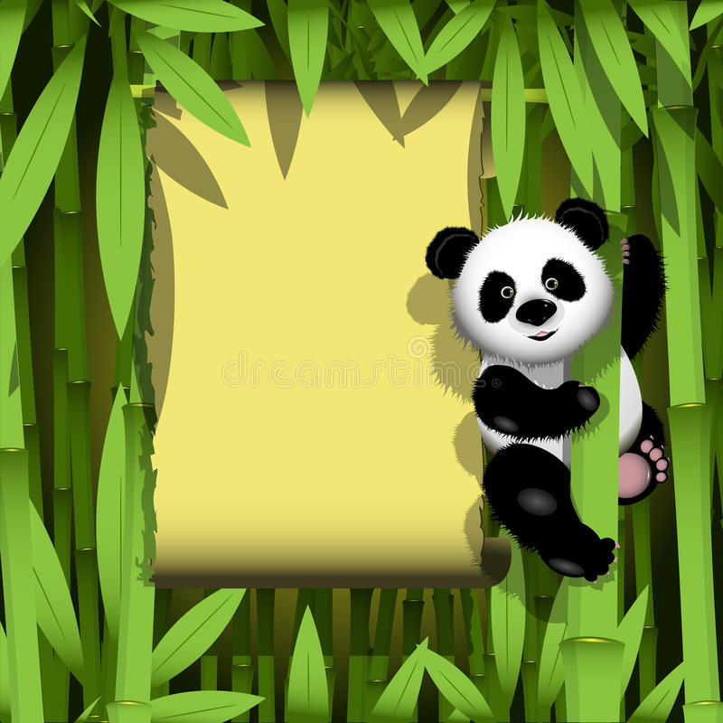 Panda dans la jungle illustration de vecteur