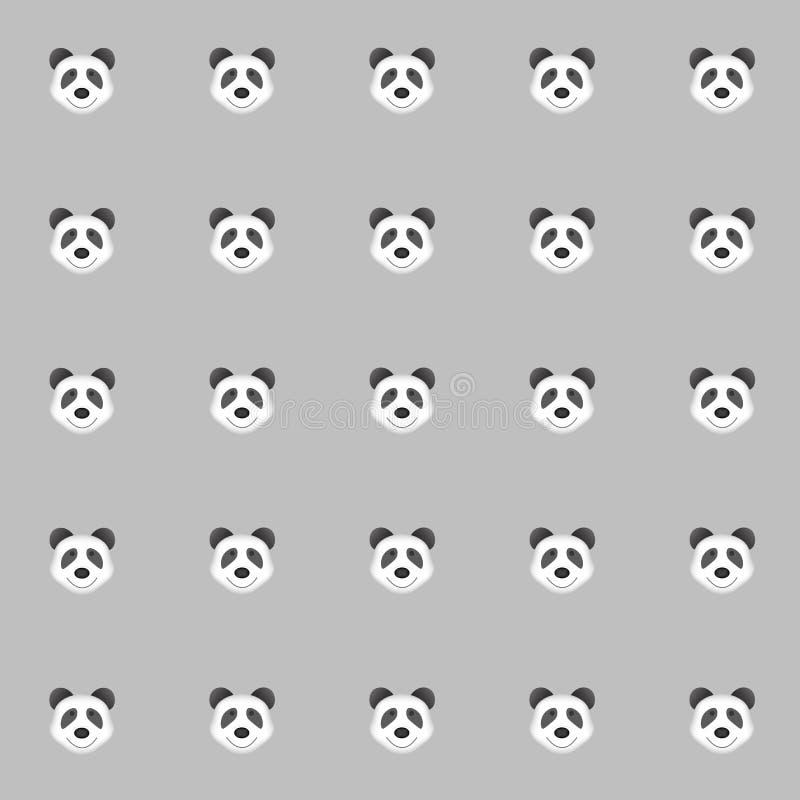 Panda de Cutie com fundo cinzento Fundo da telha ilustração stock