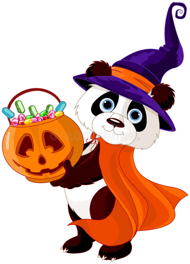 Panda de Halloween illustration stock