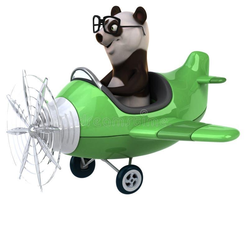 Panda de la diversión stock de ilustración
