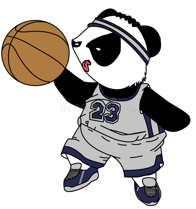 Panda de la estrella de baloncesto fotografía de archivo