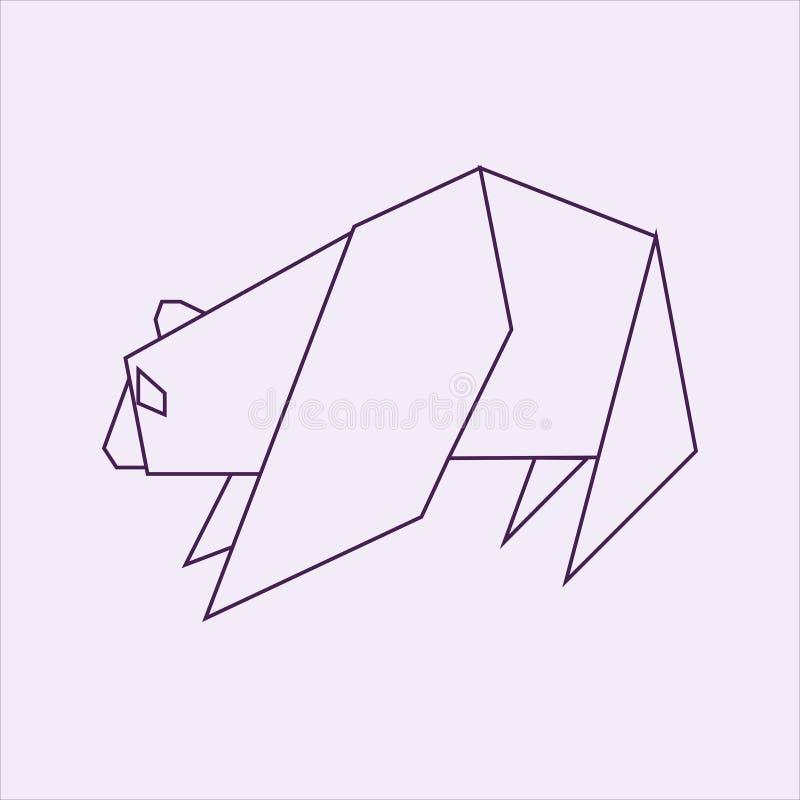 Panda de la papiroflexia ilustración del vector