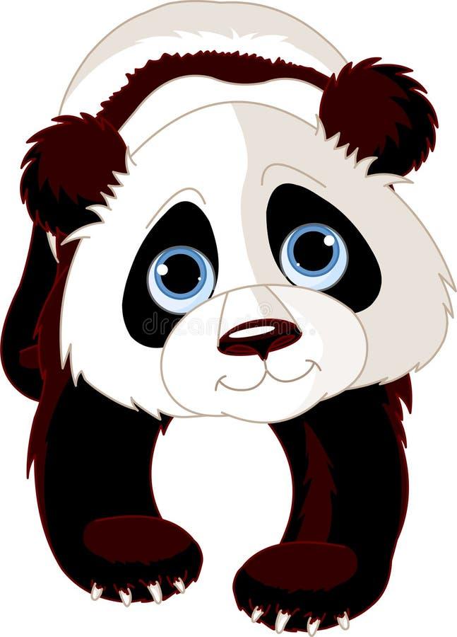 Panda de marche illustration stock