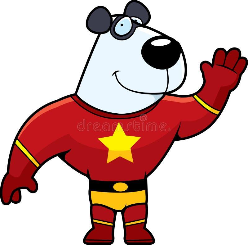 Panda de Superhero illustration de vecteur