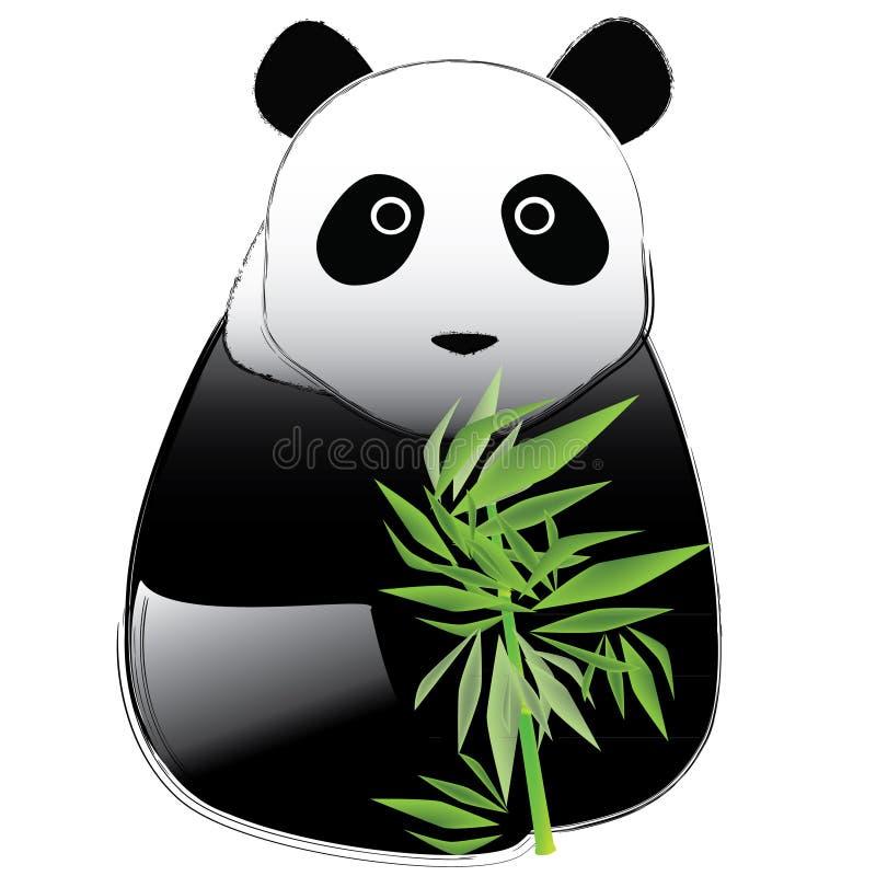 Panda de vecteur illustration libre de droits