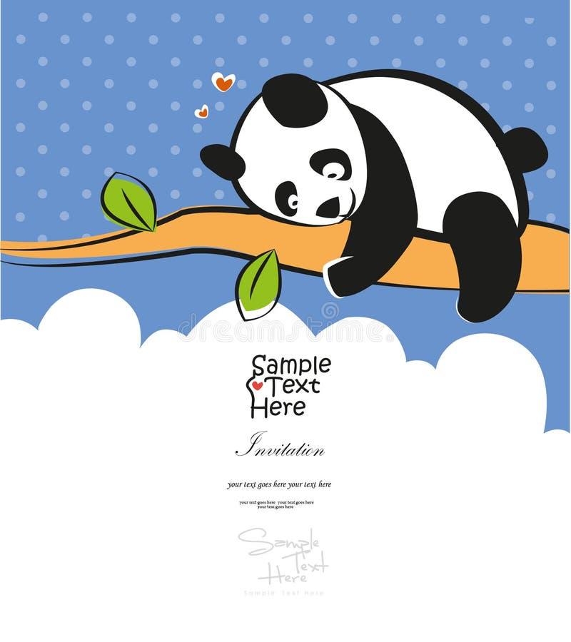 Panda del bebé que sube el árbol ilustración del vector