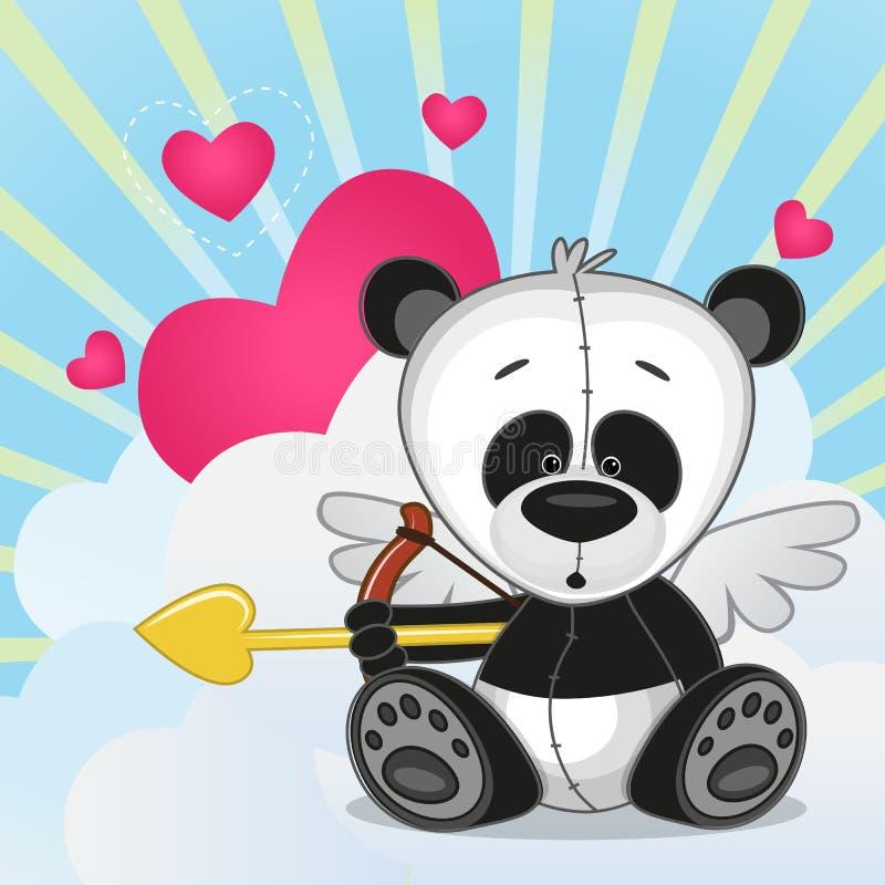 Panda del cupido royalty illustrazione gratis