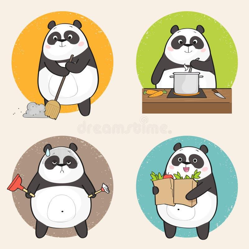Panda del fumetto illustrazione vettoriale