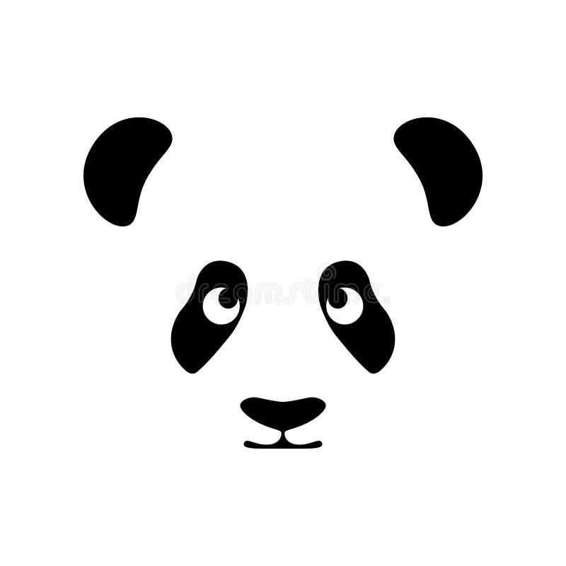 Panda dell'orso della museruola illustrazione vettoriale