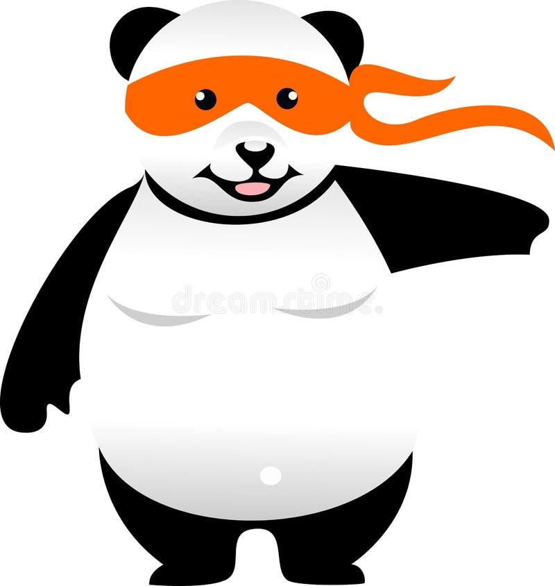 Panda di karatè illustrazione vettoriale