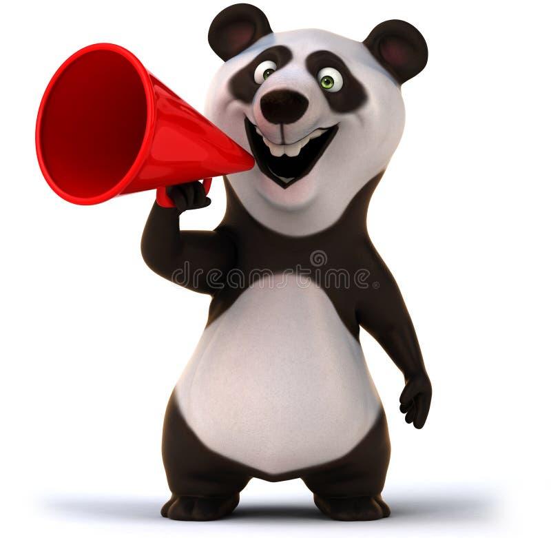 Panda do divertimento ilustração do vetor