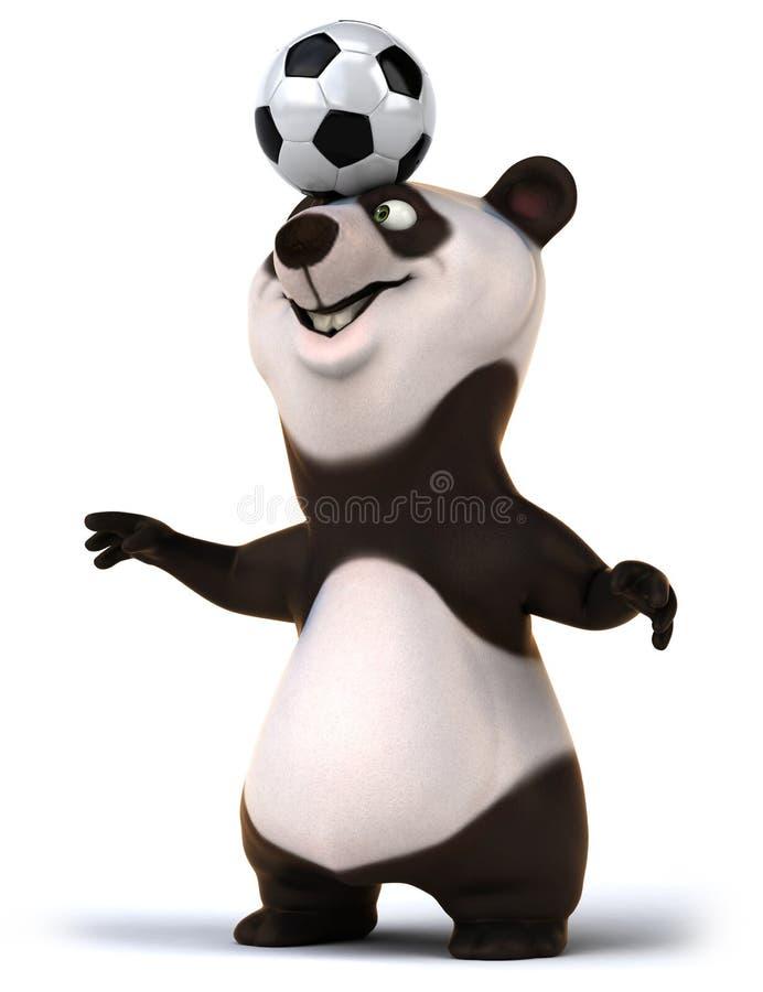 Panda do divertimento ilustração royalty free