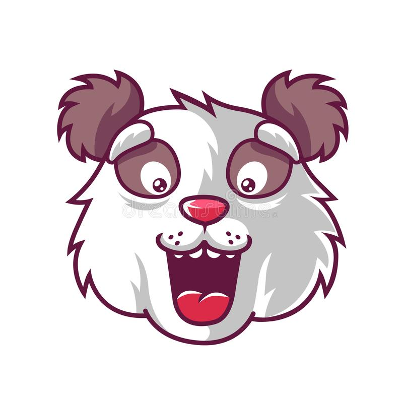 Panda do divertimento do focinho ilustração do vetor