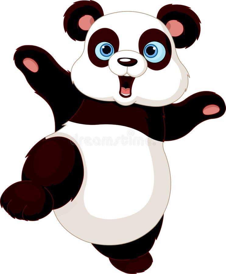 Panda do fu de Kung ilustração stock