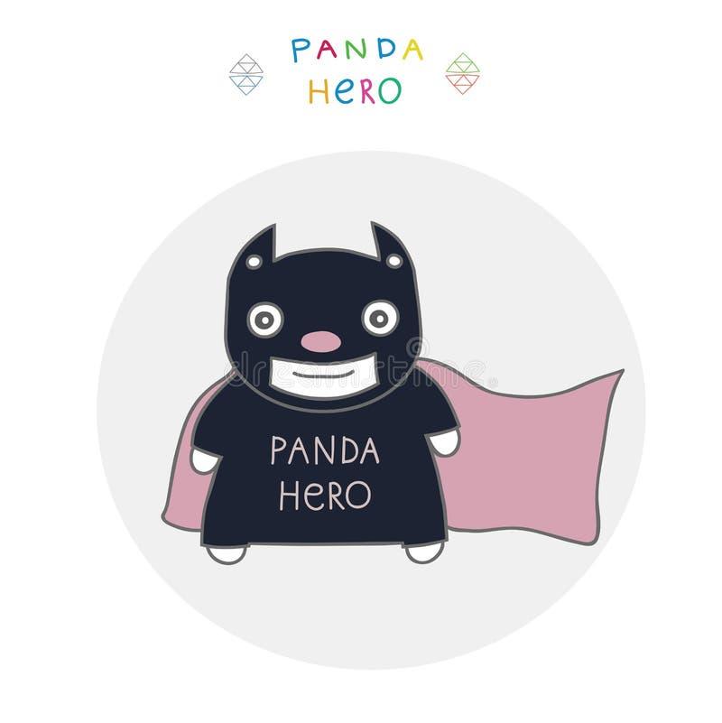 Panda do herói ilustração do vetor