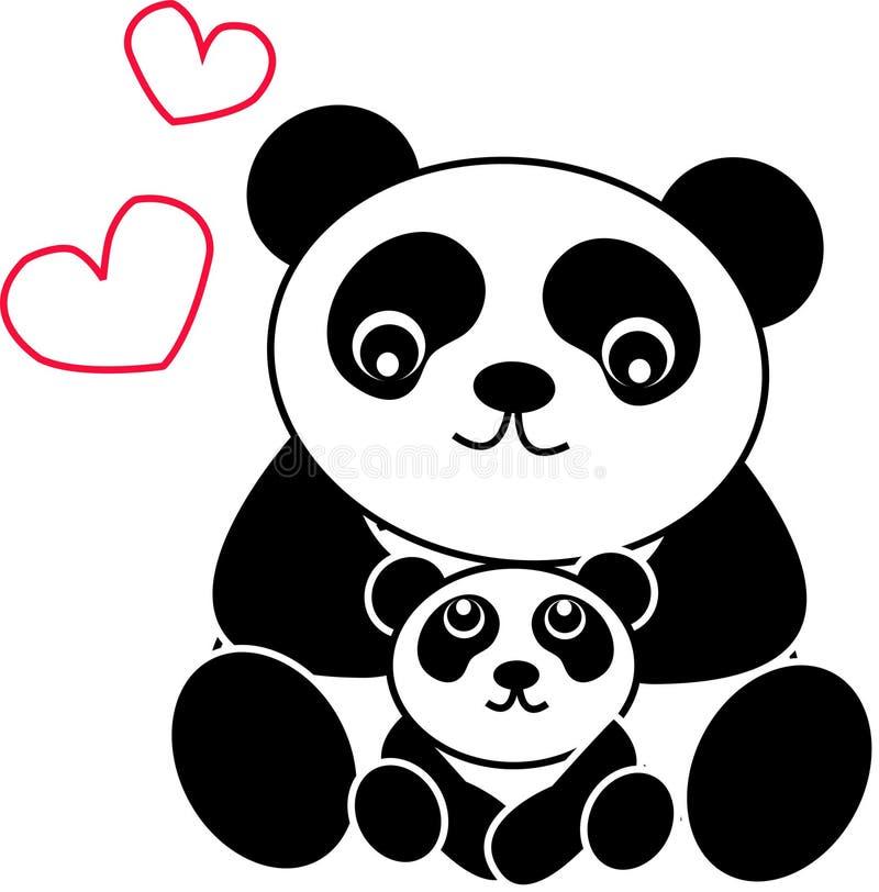 panda do urso ilustração stock