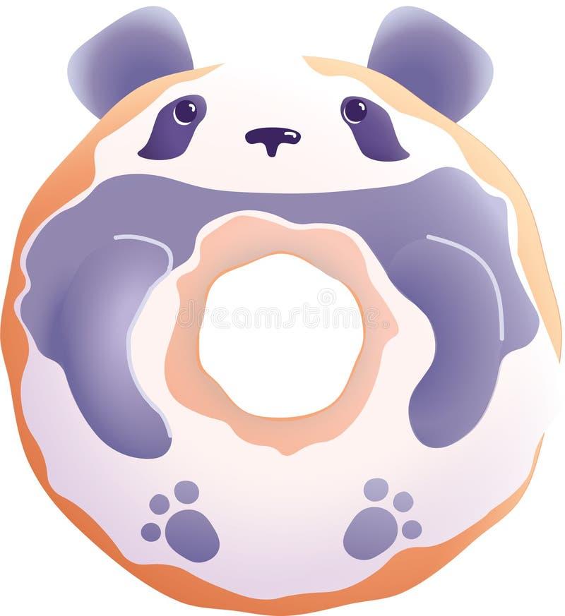 Panda donut stock photos