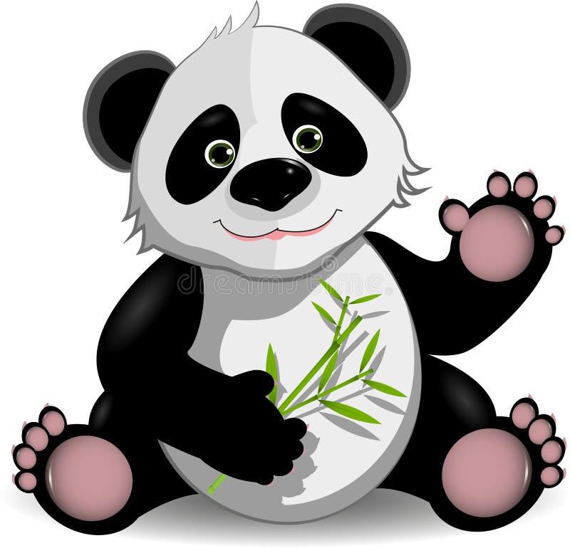 Panda drôle illustration libre de droits