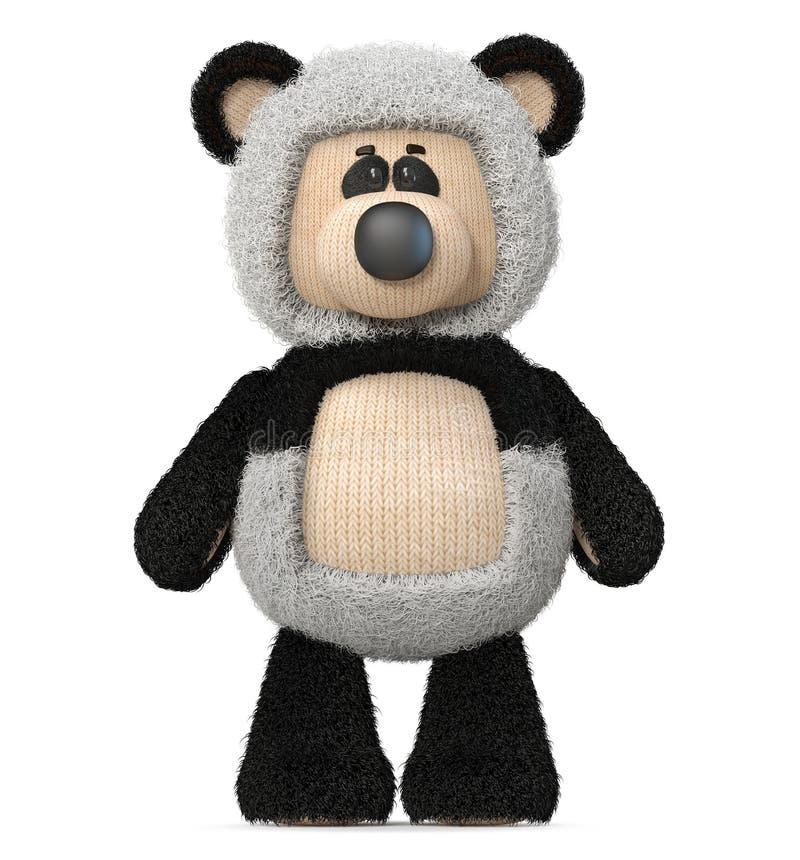 panda drôle d'ours de l'illustration 3d illustration de vecteur